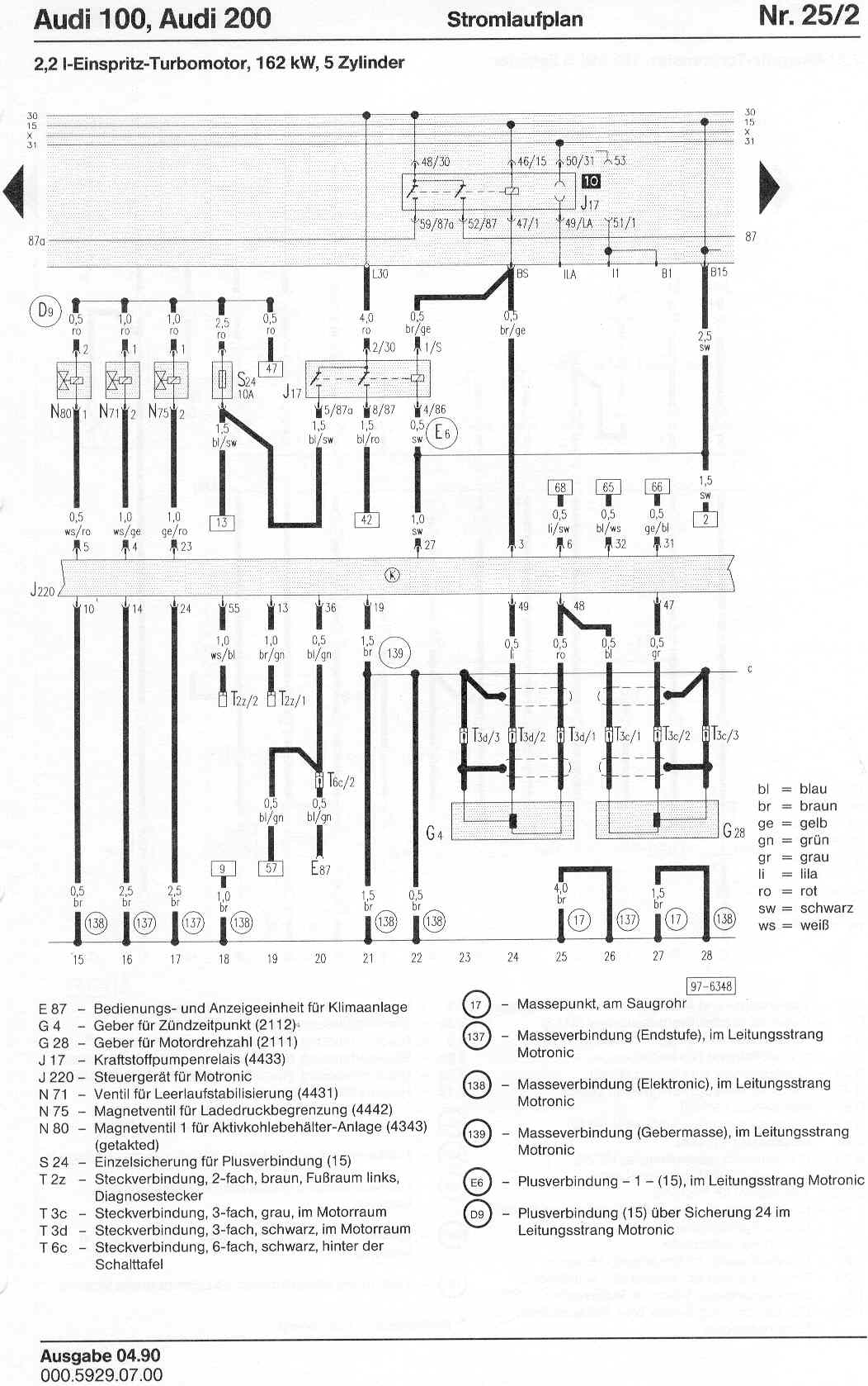 1989 Audi 100 Quattro Fuel Pump Wiring Diagram 1989 Free