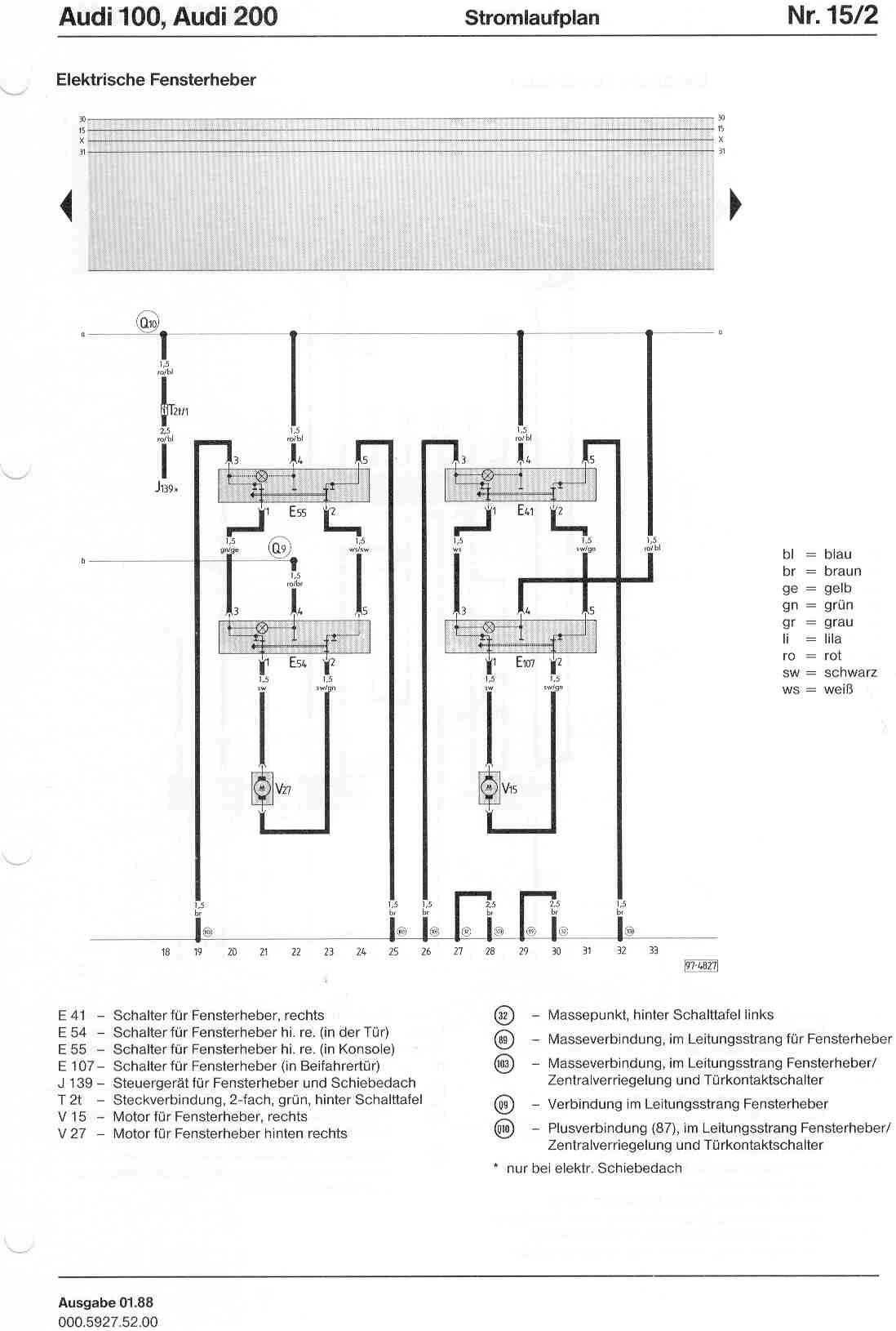 Beste 1998 Audi A6 Fensterheberschaltplan Fotos - Der Schaltplan ...