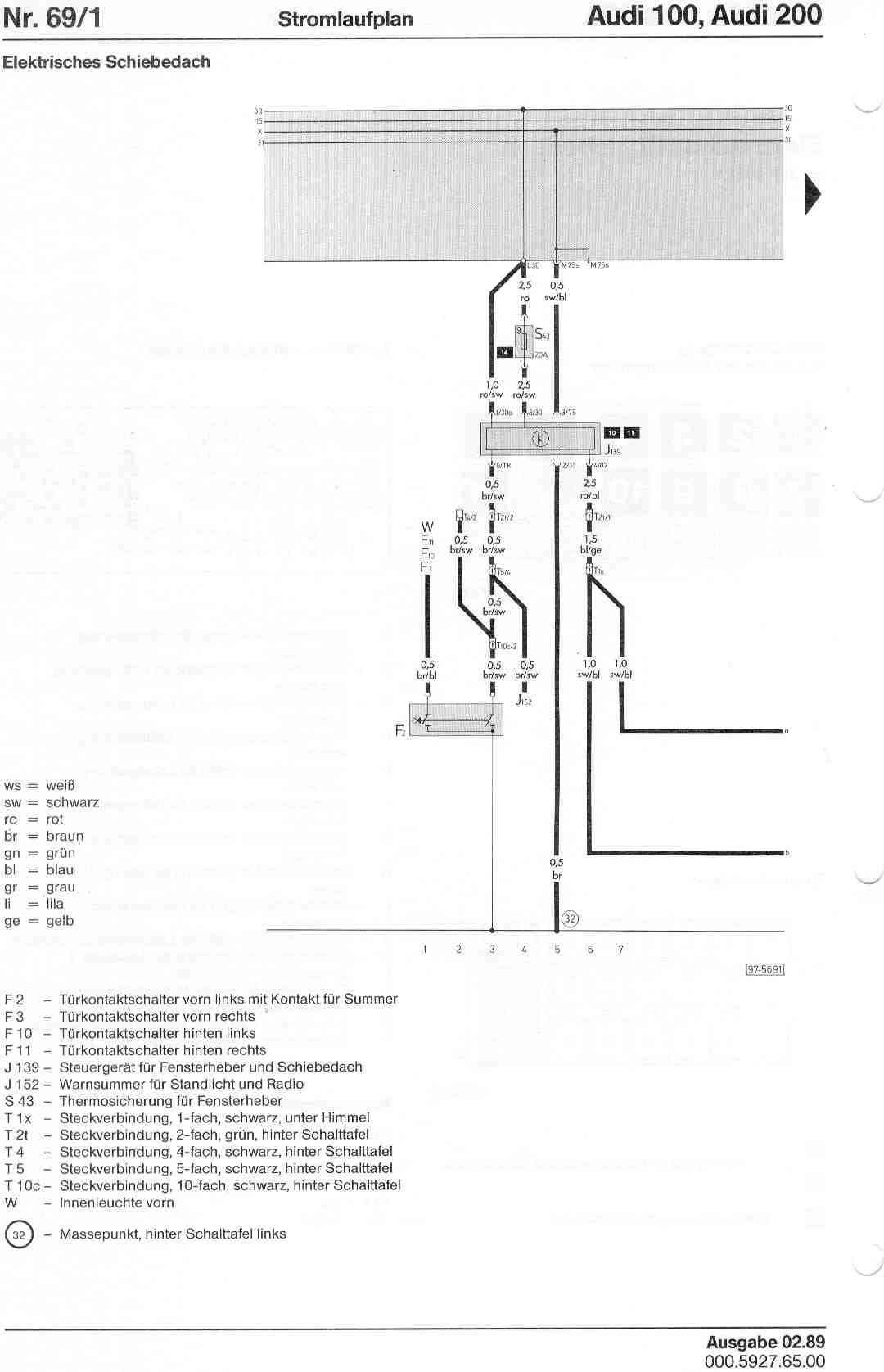 Audi 100 Wiring Diagram Library Esd 200 Factory Diagrams Page 1