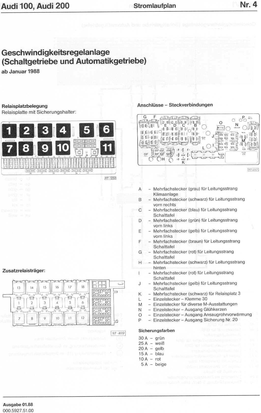audi 100 200 factory wiring diagrams rh sizov org