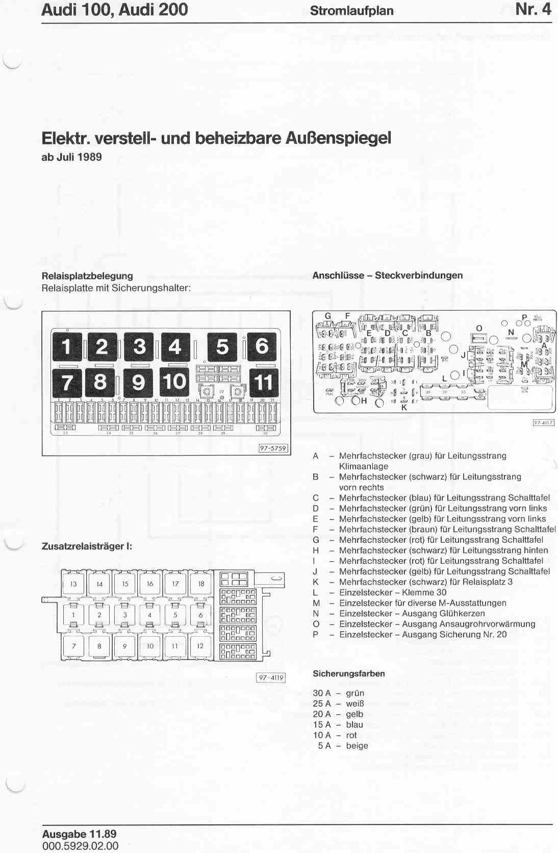 1990 Audi 90 Quattro Wiring Diagrams Reinvent Your Diagram B6 Engine 100 200 Factory Rh Sizov Org Ur A6